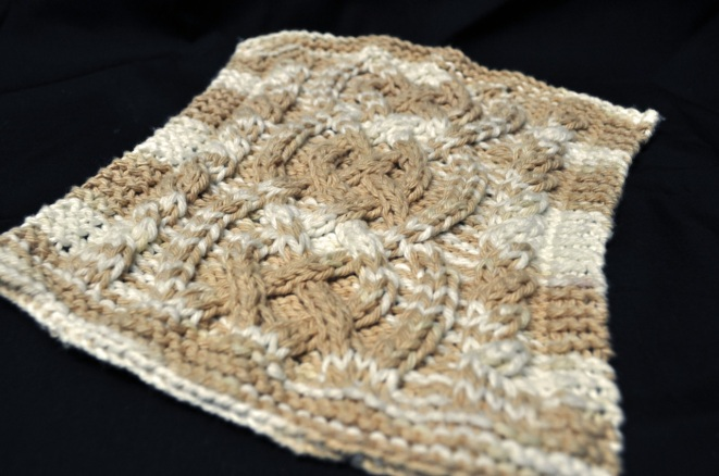 Celtic Cable Knit Dishcloth