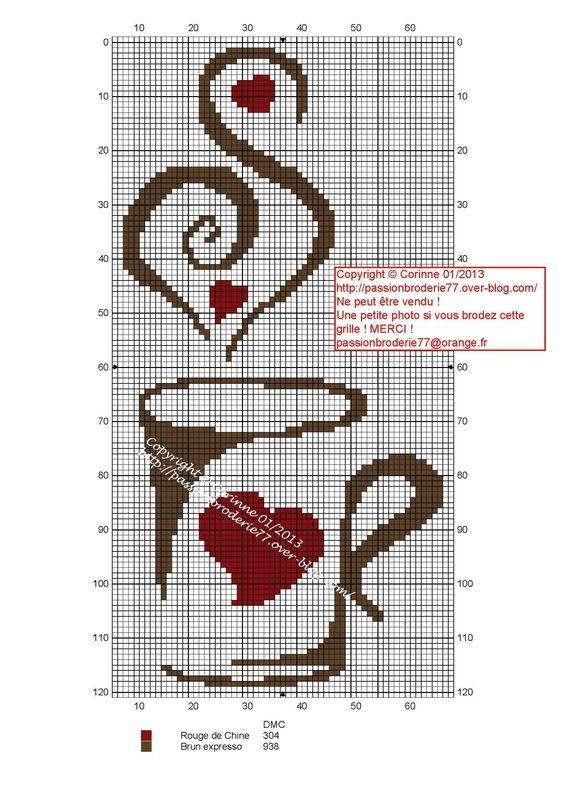 Вышивка крестом кофейные схемы