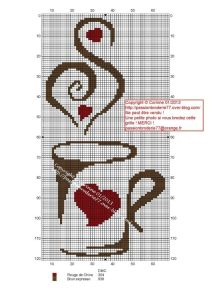 Cross Stitch Coffee Mug.  I want to make it now!