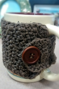 Crochet tea cup cozy back